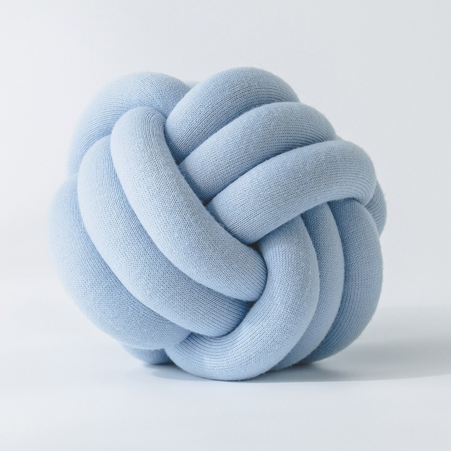 Plush Knot Ball Sofa Patio Cushion Handmade Decor Car Rest Office Back Seat  Pillow Kids Baby