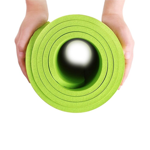 Yoga Mat Non-slip Thick Pad Fitness Pilates Mat -4 Colors Outdoor 4MM Foldable Exercise