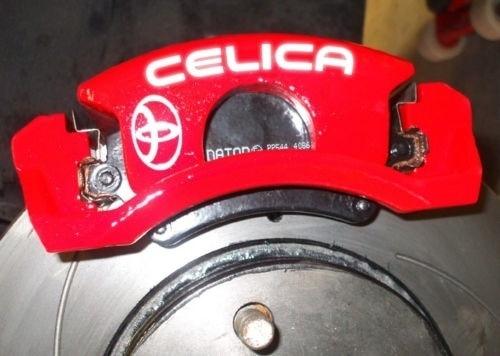 8pcs TOYOTA Celica Brake Caliper Calliper Decals Stickers VVTi