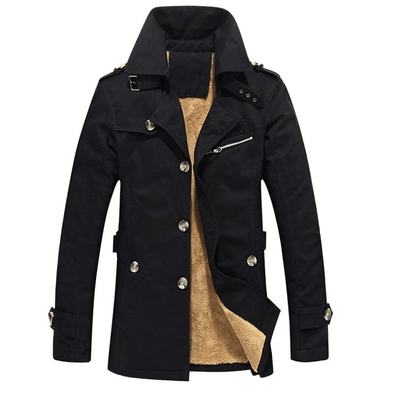 Winter Defense cold men's jackets , Fashion Scotland Men's Large Size Slim Long Parkas Jacket , High-grade plus size   Trench   men
