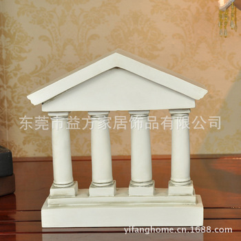 European style four-poster Roman architecture ornaments living room study decorative knick knacks hotel clubs