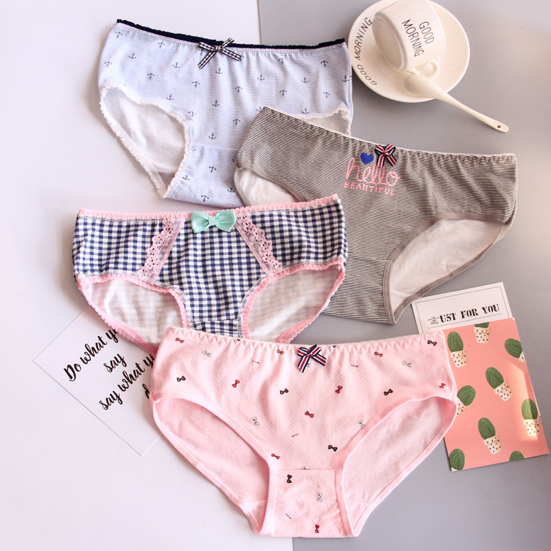 Underwear Infant Briefs Underpants Briefs For Girl Panties Shorts Cotton Cartoon Underwears For 3-11 Years Old 4pcs/lot Mother & Kids