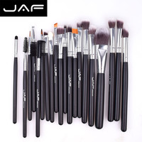 JAF 20 Pcs Foundation Eye Shadow Blending Makeup Brush Set Women Face Cosmetics Eye Blending Brushes