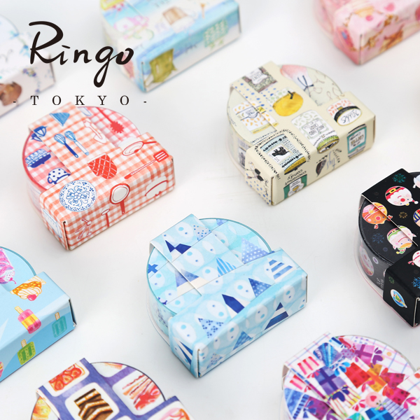 TAIWAN Tool Paper Tape Album Diary Decoration DIY Color Tape 5PCS