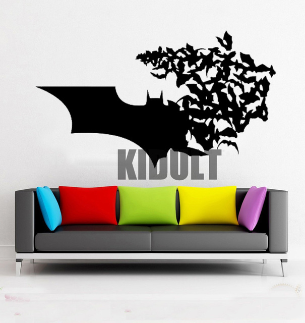 Multicolor Dark Knight Batman Wall Stickers Vinyl Stickers Home Interior  Bedroom Flat Wall Backdrop Decorative Wall