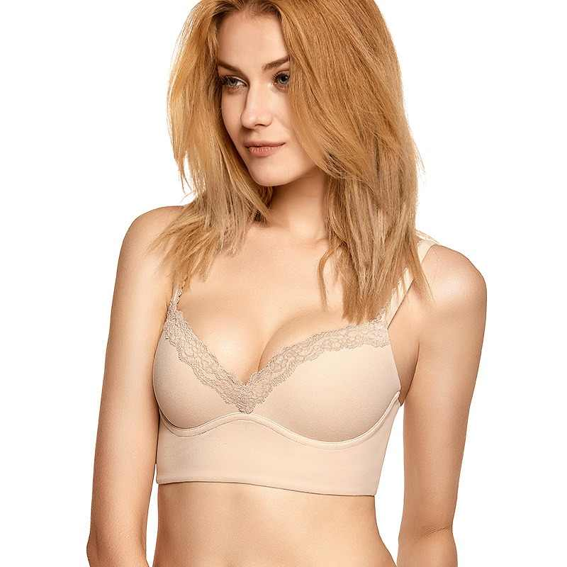 f96e28c3e1af8 DOBREVA Women s Push Up Bra Lightly Padded Wire Free Bralette Soft  Underwire Soutien Gorge