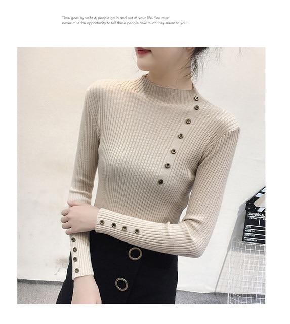 Women Sweater Turtleneck Sweaters Women Korean Fashion Woman Knitted Sweater Women Sweaters and Pullovers Winter Clothes Women 35