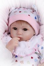 Most Welcome NPK Brand 42cm Bonecas Bebe Reborn De Silicone In White Adorable Heart-shaped Clothes For Girls Best Gift For Baby