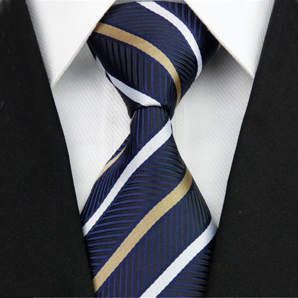 Formal Business Necktie For Men Striped Solid Corbata Males Wedding Suite Accessories Party Gravatas Slim Neck Ties 3 (7.5cm)