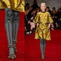 Nova chegada de moda estilo chinês lotus torção gril impressão 140d meia-calça meias femininas meias mulheres calças justas