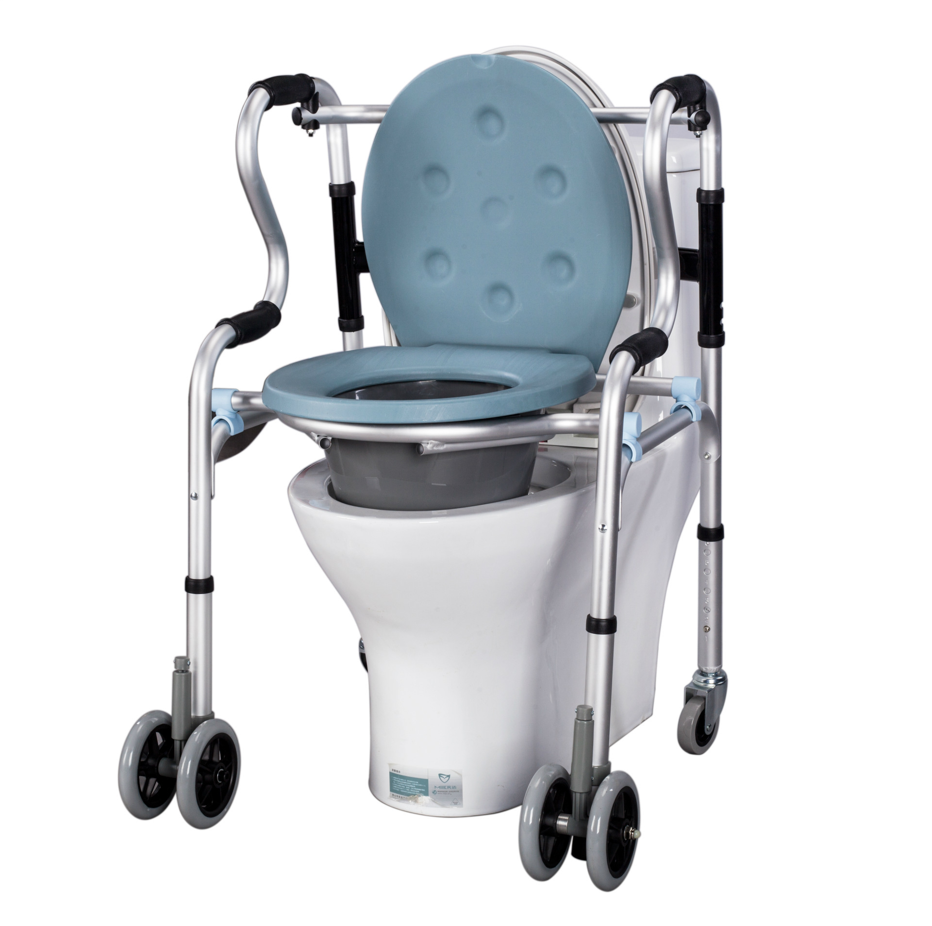 Toilet seat for the elderly foldable aluminum commode chair disabled ...