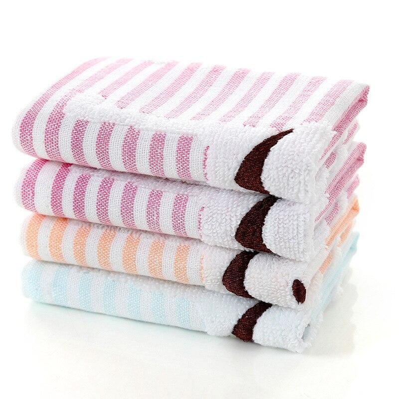 GüNstig Einkaufen 25,5*25,5 Cm Neue Kommen Kinder Kinder Gesicht Hand Waschen Handtuch Hund Streifen Muster Kleinen Quadratischen Taschentuch Fs0655 BüGeln Nicht