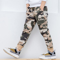 Boys 'Spring Camouflage Pants 2019 New Fashionable children's Sportswear Casual Pants Teenage Loose Trousers For Child 6 12 Y