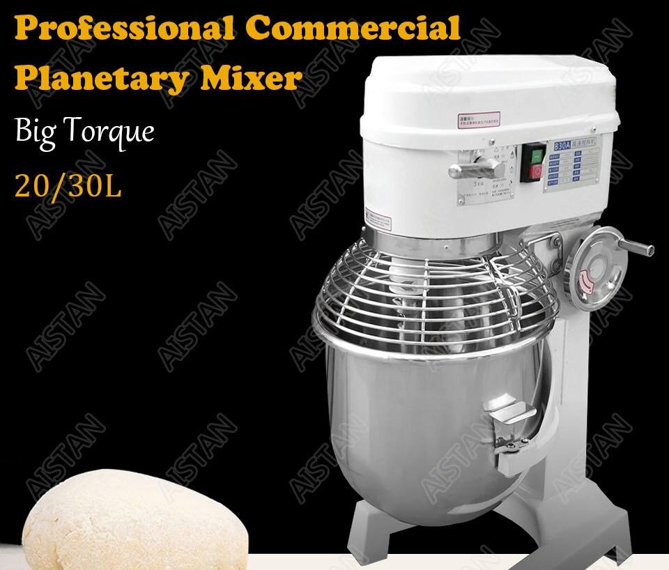 B20A/B30A commercial electric 20L/30L food mixer planetary mixer dough mixer machine for dough kneading/ egg beating/food mixing 1