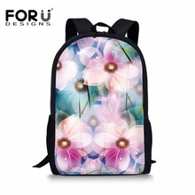 FORUDESIGNS Japanese School Bag Satchels Dream Floral Printing Schoolbag Children Student Bookbag Women 3D Backpack Dropshipping
