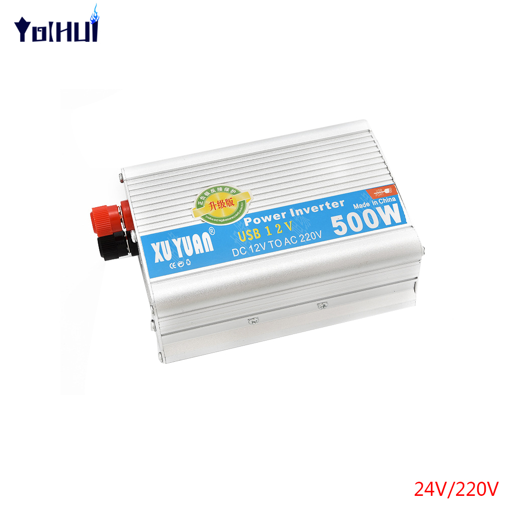 Xuyuan 2000W Car Inverter Inverter 12V/24V To 110V/220V 500W Power Supply Switch Universal Plug 1pcs lot sh b17 50w 220v to 110v 110v to 220v