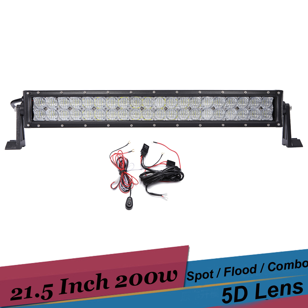 200W LED Light Bar 21.5 Inch Offroad Driving Lamp 4x4 Bumper Work Light for Jeep JK Chevrolet Tahoe Truck Car SUV ATV Pickup LED chevrolet tahoe у дилера
