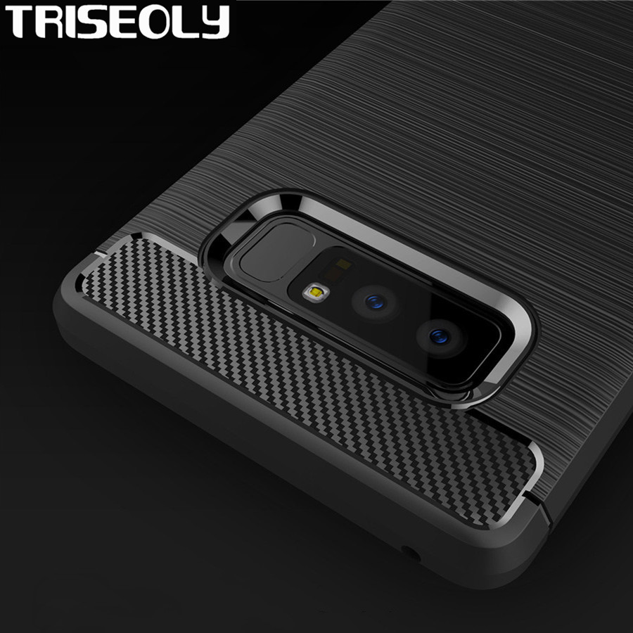 Triseoly Case For Samsung Galaxy note 8 N950F Brushed Armor Shockproof Soft TPU For Samsung