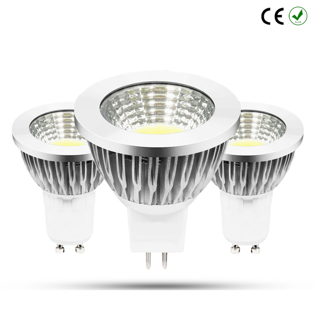 Spot Light LED Bulb Led 3W 5W 7W 220V 110V 12V GU10 E27 COB dimmable MR16 Warm White bulb replace energy saving lamp