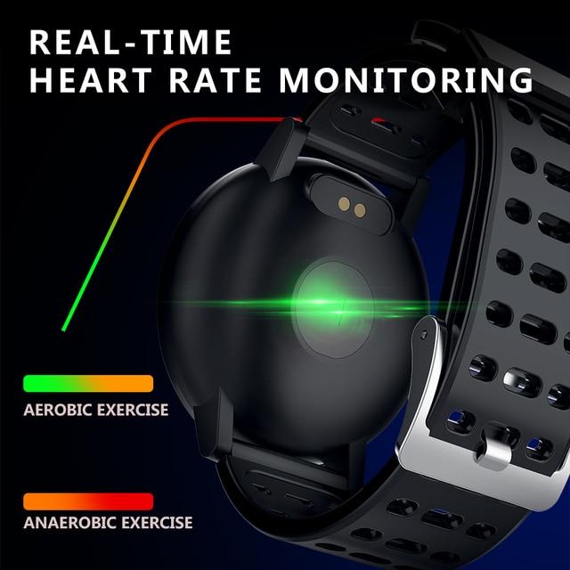 Makibes T3 Smart watch waterproof Activity Fitness tracker HR Blood oxygen Blood pressure Clock Men women smartwatch PK V11 3
