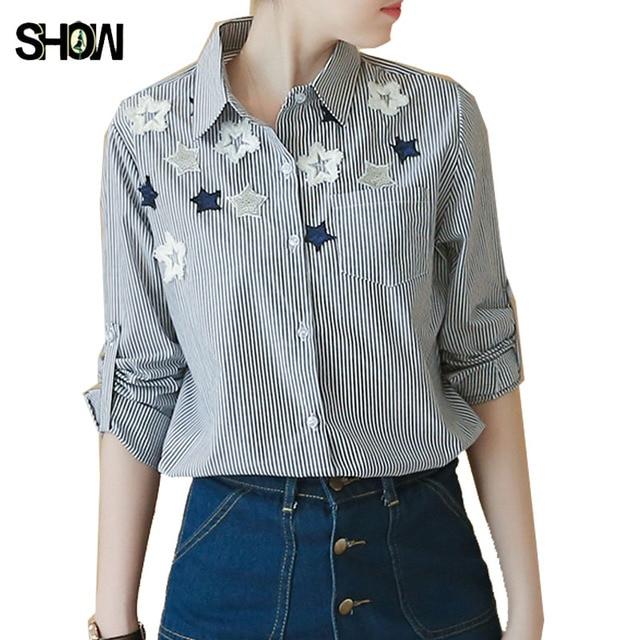 S-XL Camicia Button Nuova Vendita Calda Preppy Style Coreano 2017 donna  Primavera Carino Magliette