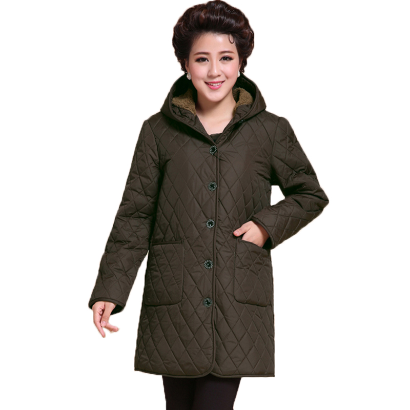 2017 New Winter Cotton Coat Plus Size 5XL Women Loose Coat Warm Hooded Jacket High Quality Cotton Parkas YP0544 2015 new hot winter thicken warm woman down jacket coat parkas outerwear hooded loose straight luxury brand long plus size xl