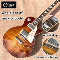 New Standard LP 1959 R9 Electric Guitar Tobacco Burst Frets Cream Binding One Piece Of Neck