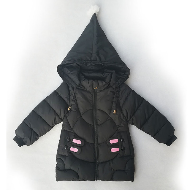 Cheap Baby Girls Coat Winter Down Jacket New Warm Clothing Children Hooded Jacket Kids Thicken Outerwear Cartoon Jackets for Girl