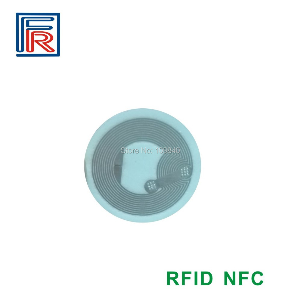 100pcs RFID 13.56MHz NFC tag ntag203 sticker compatible with all NFC android phone for e-wallet