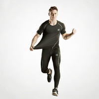 Quick Dry Short Sleeved Fitness Suit Men S Elastic Compression Boot Boot