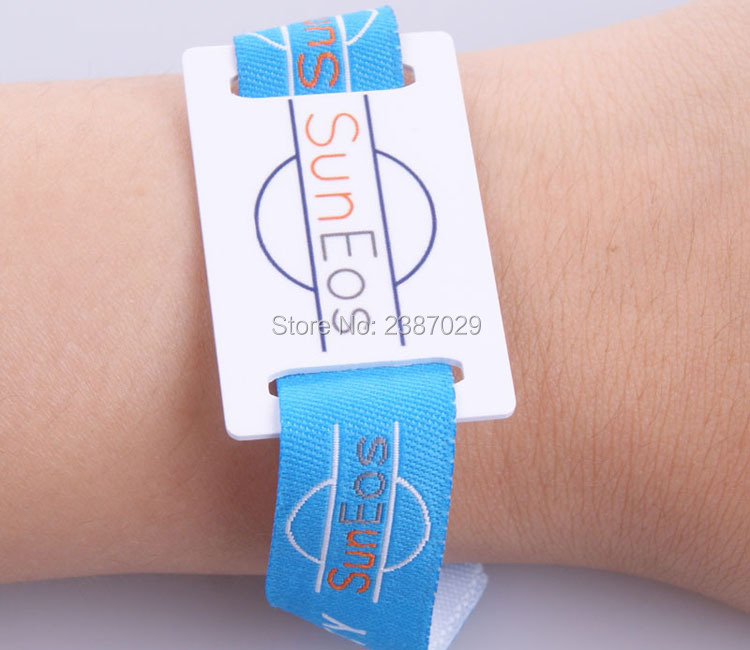 professional festival fabric ISO14443A rfid bracelet 13.56mhz ntag216 chip/fabric rfid wristband for event 1000pcs/lot customized printing cashless payment iso14443a 13 56mhz ultralight fabric rfid woven bracelet wristband for festival events