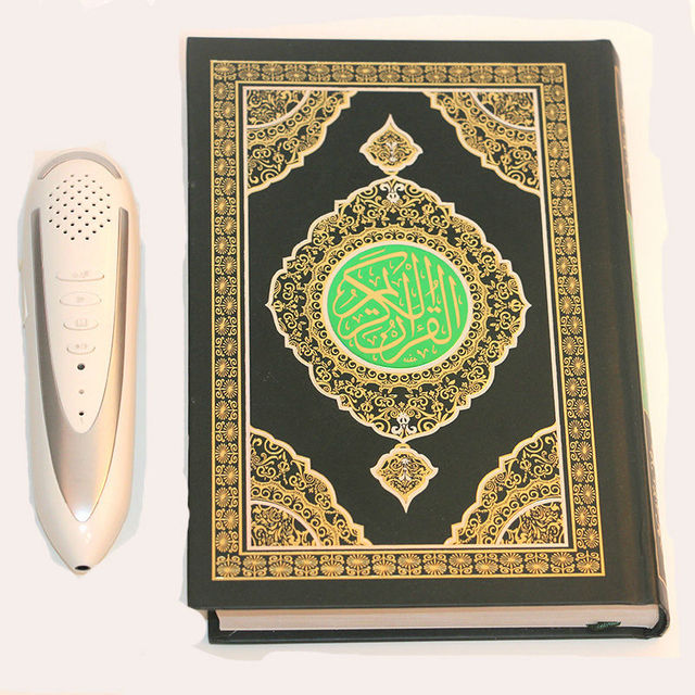 US $66 5 |Holy Quran Reading Pen Russian French Arabic Spanish Malayslam  English translation language Word by Word Quran Pen Reader-in HiFi Players