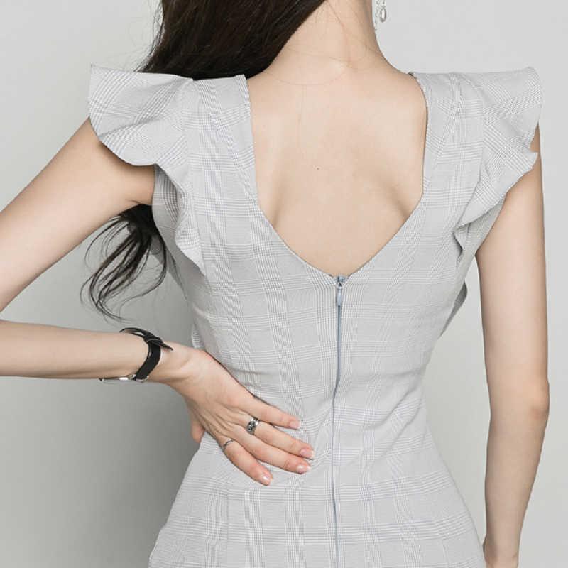 BGTEEVER оборками Slash-средства ухода за кожей Шеи бедра упакованы женское платье молния сбоку разделение средней длины vestidos женское вечернее платье 2018 высокое качество