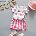 Anlencool Conjuntos de Roupas Conjuntos de Roupas de Bebê Menina de Bebê Da Marca Menino Picolé Impressão Projeto do T-shirt + Shorts 2 Pcs para a Roupa Do Bebê