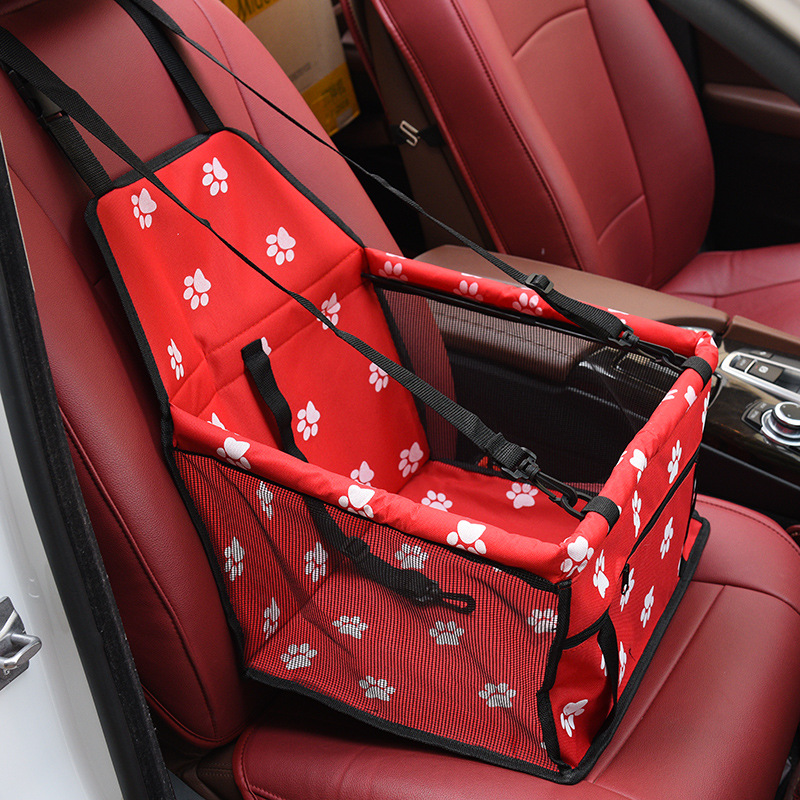 Folding Dog Seat Cover With Adjustable Buckle Design Suitable for All Cars 3