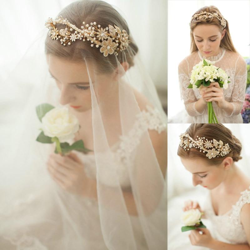 Free Shipping Luxurious Beads Flower Double Headband Wedding Brida Hair  Accessories Tiara Crown Wedding Dress Jewellery -in Hair Jewelry from  Jewelry ... 3e32b289c71