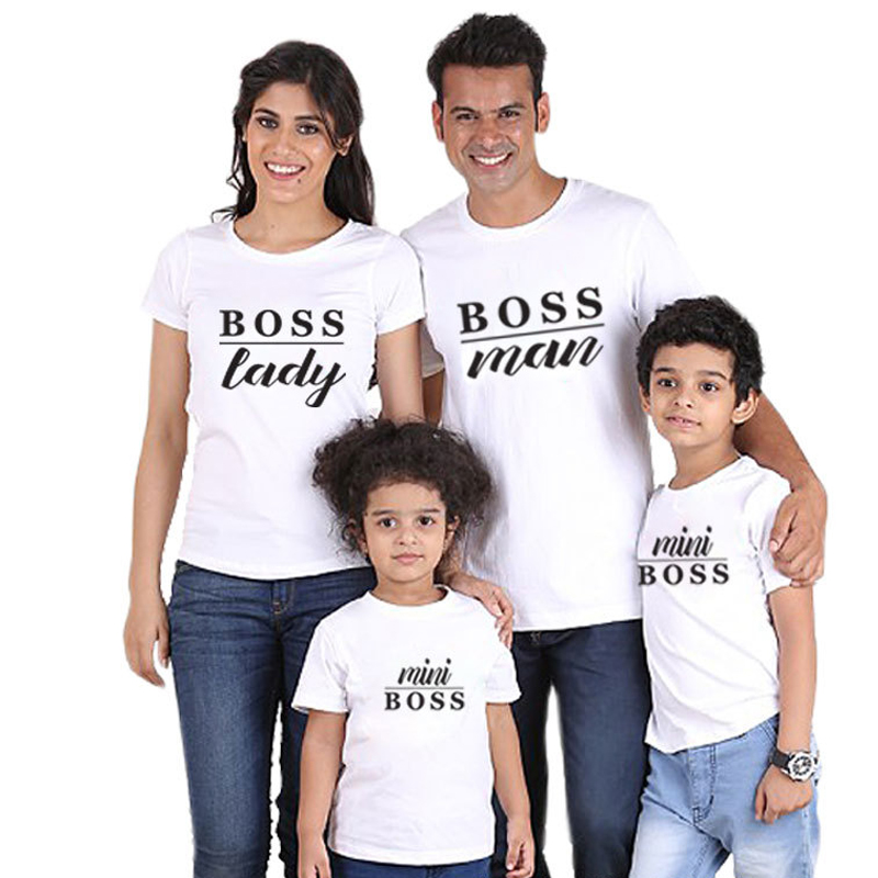 Summer Mom and Daughter Clothes Cotton Lettering T-Shirt Family Matching Clothing Mom and Dad Kid's T-shirt Comfort Girl Clothes 2017 hot sale family matching outfits t shirt mom dad boys and girls camouflage cotton100% short sleeve t shirt