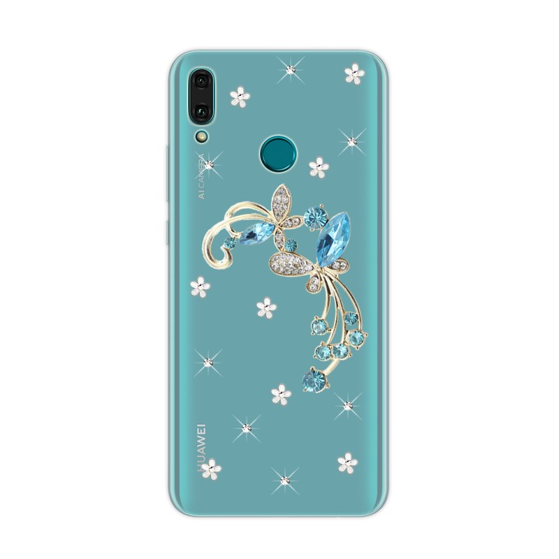 For <font><b>Huawei</b></font> Y9 Y7 2019 P Smart Z Y5 Y6 Prime 2018 flower clear Coque Cover For <font><b>Huawei</b></font> P20 lite Mate <font><b>20</b></font> <font><b>pro</b></font> 8A Honor 8X phone <font><b>case</b></font> image