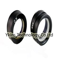 Dla 180X 300X C mocowanie obiektywu 0.5X/2.0X przemysł kamery mikroskopu soczewka obiektywu Barlow pomocniczy szklany obiektyw