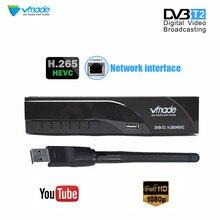 DVB T2 فك H.265 HEVC الرقمية HD DVB t الأرضي استقبال التلفزيون يدعم يوتيوب DVB T2 موالف التلفزيون مربع مع RJ45 LAN + USB WIFI