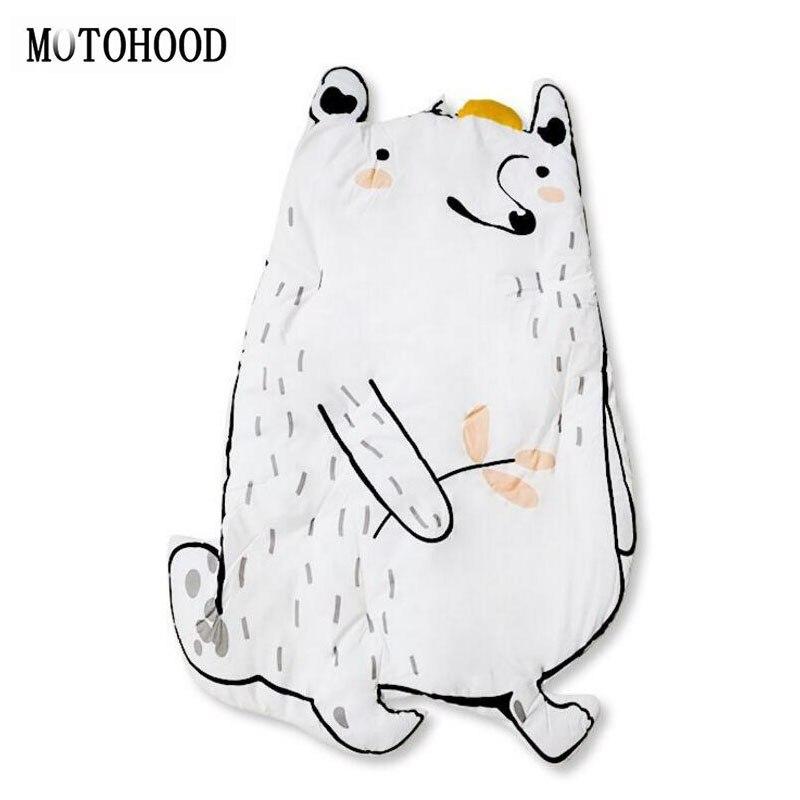MOTOHOOD Cotton Baby Crawling Mats Game Blanket Floor Playmats Carpet with Cute Bear Rabbit Shape Kids Room Decoration