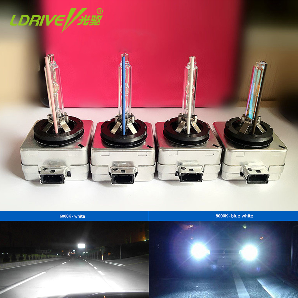 2 PCS DC12V 35W D1S DS1 D1C HID Xenon Bulb Yellow White 4300K 5000K 6000K 8000K White Blue 1000K D1S HID Headlight Bulb Lamp