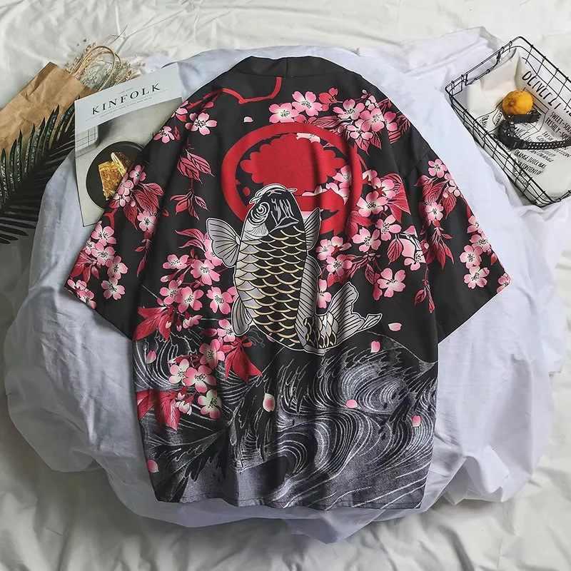 Samurai Gru Giapponese Stile Kimono Haori Donne Degli Uomini Cardigan Drago Cinese Tradizionale Abbigliamento Giapponese Asiatico Vestiti