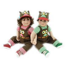 20 inch vinyl baby born girl and boy gift dolls