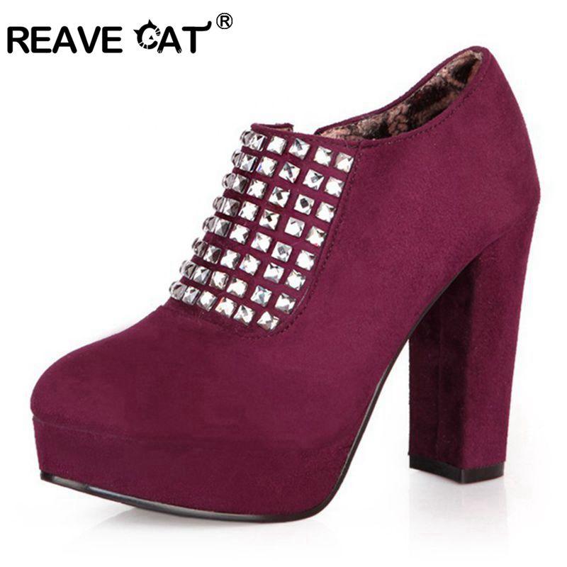 113eb7260bb8 plus size 33 43 new arrival shoes woman high heels shoes flock platform  rhinestone wedding