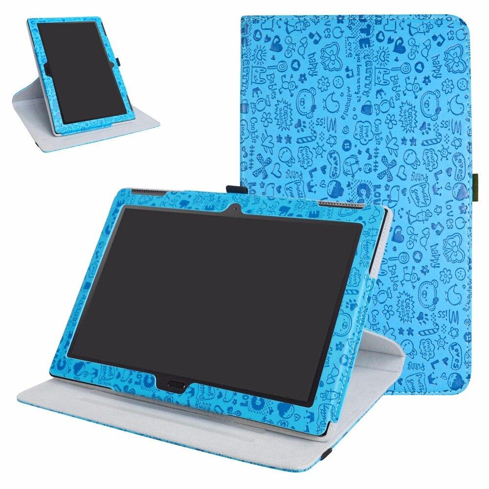 Для Lenovo Tab 4 10 плюс Чехол, 360 градусов Поворотный вращающийся искусственная кожа для 10.1 Lenovo Tab 4 10 плюс Планшеты с упругой закрытия ...