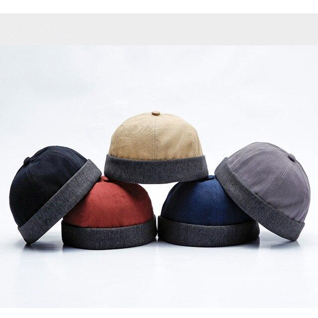 1 Piece Men s Cotton Urban Unique Individuality Street Docker Hat Brimless  Caps Sailor Cap Beanie Hat YLM9635 d9f84f6d8de