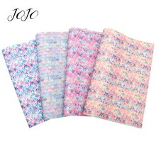 JOJO BOWS 22*30cm Thin Glitter Synthetic Leather Fabric For Crafts Fish Scale Sheets Needlework DIY Hair Bows Garment Sewing