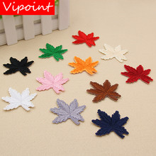 VIPOINT embroidery maple leaf patches badges applique for clothing XW-134