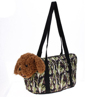 Canvas Dog Carrier Pets Travel Carrying Bag Camouflage Print Outdoor Kennel Bed For Small Dog Cats
